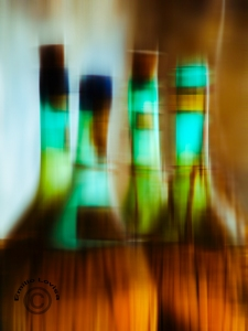 Vino Italiano - Italian Wicker Wine Bottles - modern photographic art